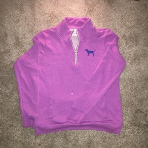 VS PINK Purple & Blue Logo Quarter Zip
